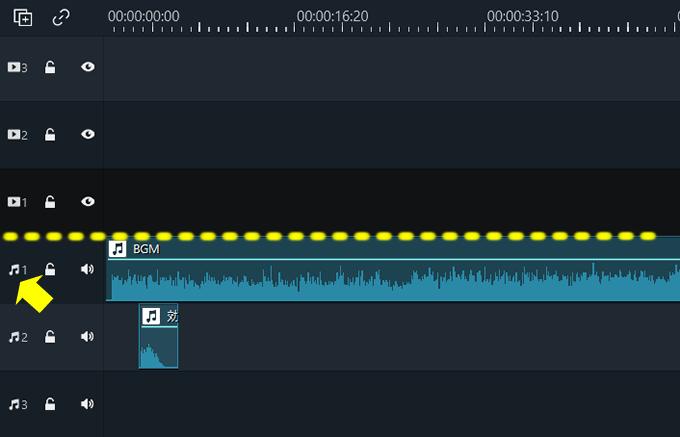 Filmora(フィモーラ)でBGMや効果音などの音源を挿入する方法②