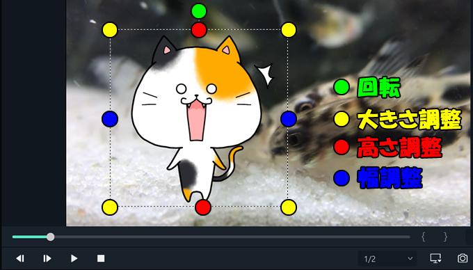 【Filmora(フィモーラ)】挿入した画像は動画画面から簡単に編集が出来る