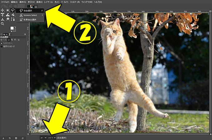 超高機能の無料画像処理ソフト「GIMP」でバックグラウンド(背景)を切り抜く(トリミング)方法⑧
