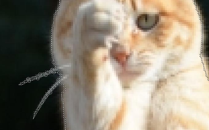 超高機能の無料画像処理ソフト「GIMP」でバックグラウンド(背景)を切り抜く(トリミング)方法⑩