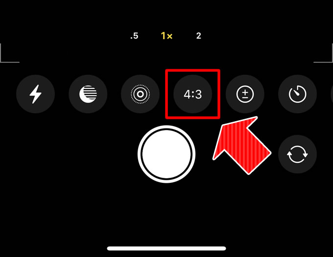 スマホ(iPhone)カメラでアスペクト比「16:9」に設定して撮影する方法⑤