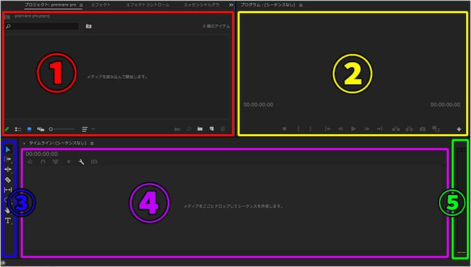 Premiere Pro(プレミアプロ)の画面の名称とお勧めの配置にレイアウトをカスタマイズする方法⑨