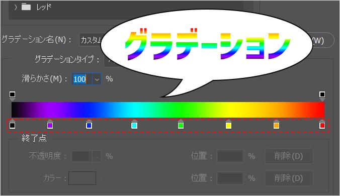 Photoshop(フォトショップ)で文字や図形にグラデーションをかける方法⑰