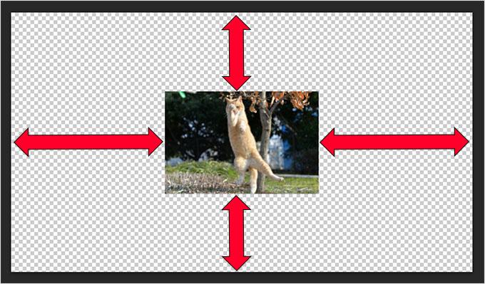 Photoshop(フォトショップ)で画像カンバスを一瞬で合わせる方法①