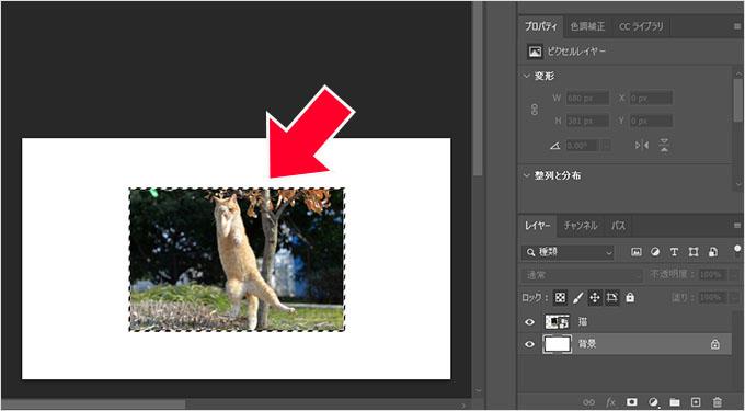 Photoshop(フォトショップ)で画像カンバスを一瞬で合わせる方法③