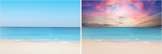 Photoshop(フォトショップ)で空の画像を他の画像に置き換える方法②