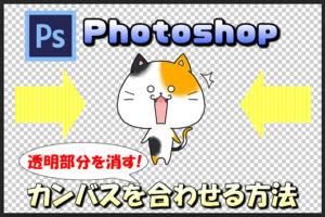 【Photoshop】透明の背景のカンバスを一瞬で画像に合わせる方法と保存形式について