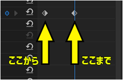 「Premiere Pro」のキーフレーム機能の基本的な使い方を理解して文字や画像を動かす方法⑤