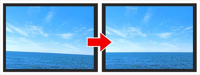 Photoshop(フォトショップ)で傾いた画像(写真)を水平に修正する方法について①