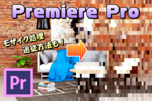 【Premiere Pro】ビデオエフェクトのモザイクの基本的な使い方と追従(追跡)させる方法