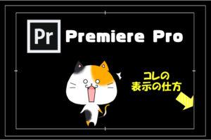 【Premiere Pro】編集画面(プログラムモニター)に枠線(フレーム)を表示させる方法と使い方
